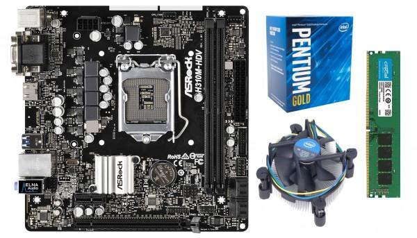 Mainboard-Bundle Business, H410M, Intel Core I3-10100, 8GB DDR4