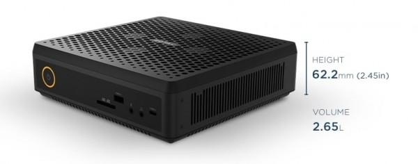 PC-System Zotac-Box Magnus , Intel Core I5-9300H, 16GB, 256GB SSD+1TB, RTX2060, WLAN, W10