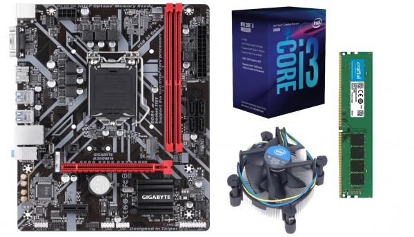 Mainboard-Bundle Business Pro, Gigabyte H360-H, Intel Core I3-9100, 8 GB DDR4