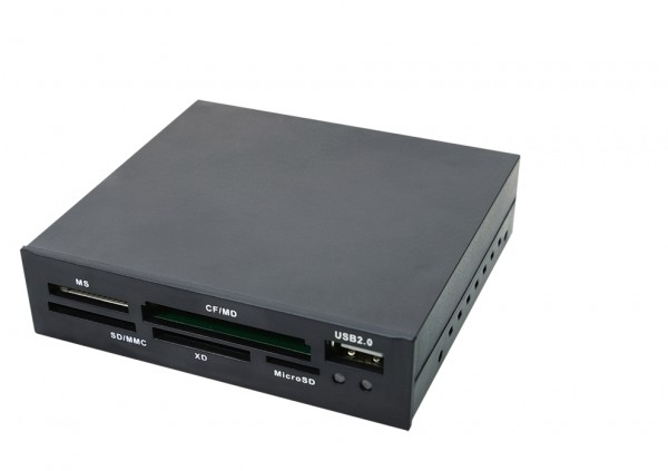 """Cardreader/Kartenleser intern 8,9cm (3,5"""") schwarz mit USB 2.0"""