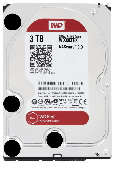 """Western Digital 3TB 30EFRX 3,5"""" (8,9cm) SATA3, 5400U, 64MB"""