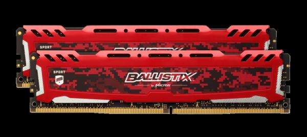 16GB DDR4-SDRAM, PC3000, Crucial Ballistix Sport, Kit