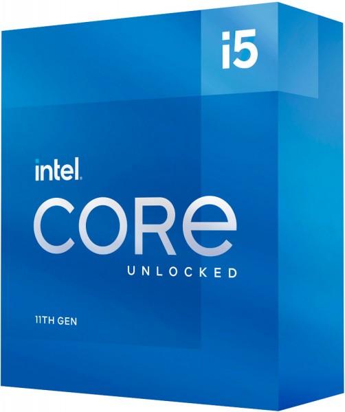 Intel Core I5-11600K, 3.9 bis 4.9 GHz, Box