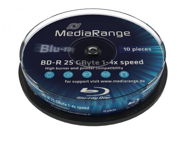 Medien, BD-Rohlinge, 25GB Spindel 10er, MediaRange