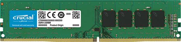 16GB DDR4-SDRAM, PC2400, Crucial