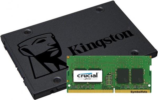 Mehr Arbeitsspeicher oder größere HDD/SSD?