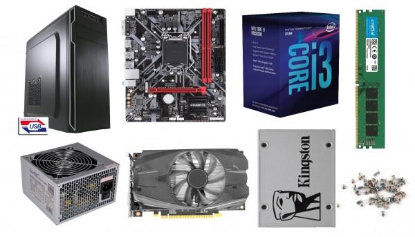 PC-Bausatz Dayline Fortune, MSI B460M Pro, Intel Core I5-10400F, 8 GB DDR4, 480GB SSD, GTX1660 Super