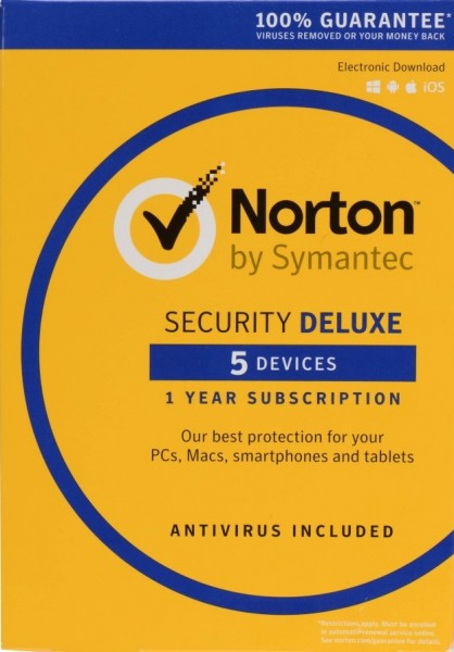 Norton Security Deluxe, 5 Geräte