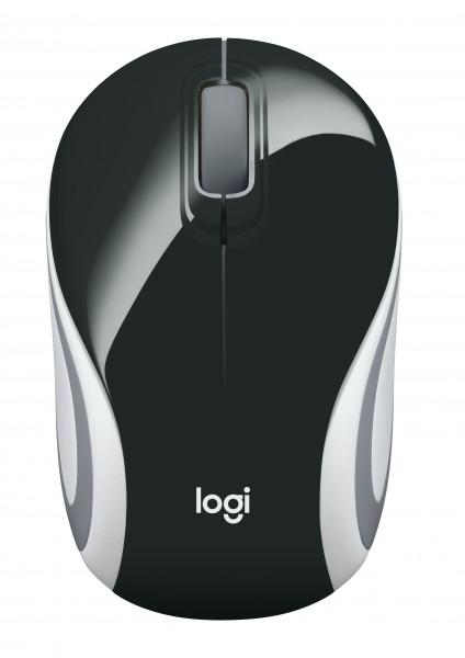 Logitech Cordless Mouse M187, schwarz/weiß