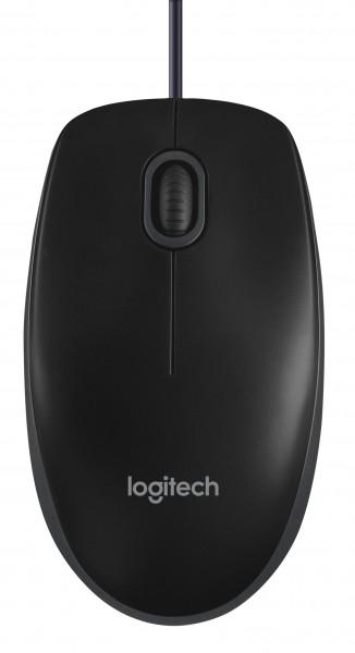 Logitech Maus B100, schwarz