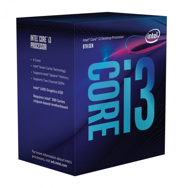 Intel Core I3-9100F, 3.6 GHz, Box
