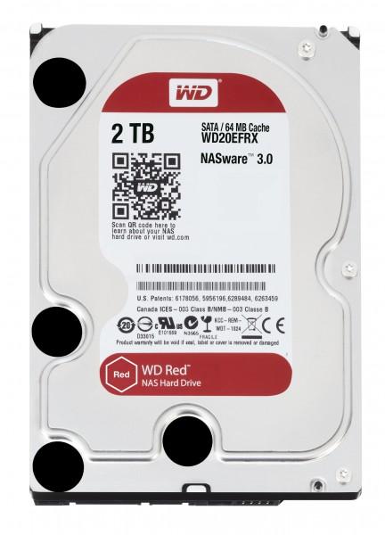 """Western Digital 2TB 20EFRX 3,5"""" (8,9cm) SATA3, 5400U, 64MB"""