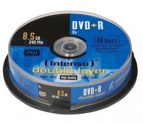 Medien, DVD-Rohlinge, 8,5GB DL Spindel 10er, Intenso