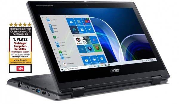 "Acer Travelmate Spin B3 (11,6""), Intel Pentium N5030, 4GB, 128GB SSD, W10 Pro, FullHD Touch"