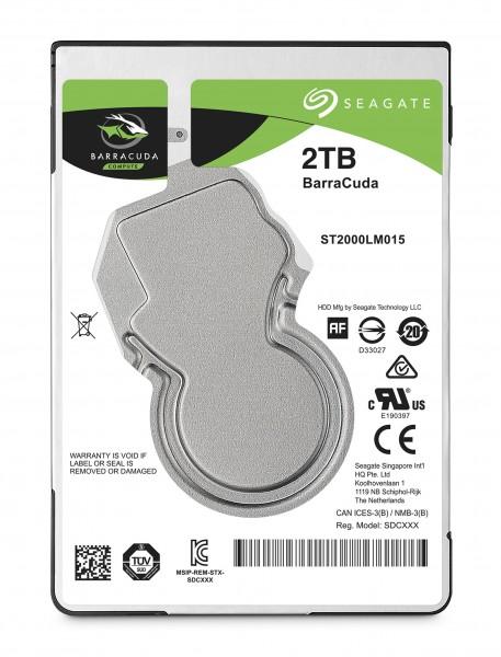 """Seagate ST2000LM015 2TB 2,5"""" (6,3cm) SATA3, 5400U, 128MB"""