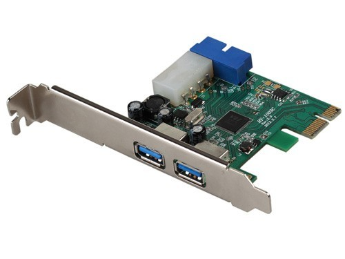 I/O Karte USB 3.0 PCIe, 2x extern Typ-A, 1x intern 30-Pin
