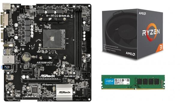 Mainboard-Bundle R1, AM4, Gigabyte A320M H, Ryzen 3 3200G, 8GB DDR4