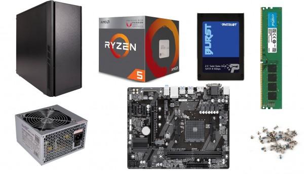 PC-Bausatz Dayline Ryzen Two, Gigabyte B550M, AMD Ryzen 5-3600, 16 GB DDR4 PC3200